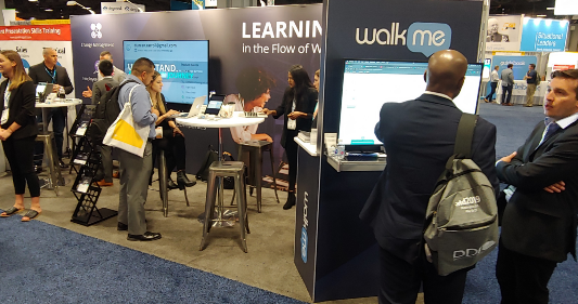 WalkMe Tradeshow booth