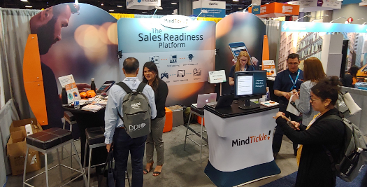 MindTickle Tradeshow booth