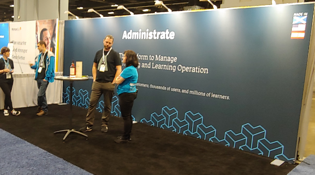 Administrate tradeshow booth