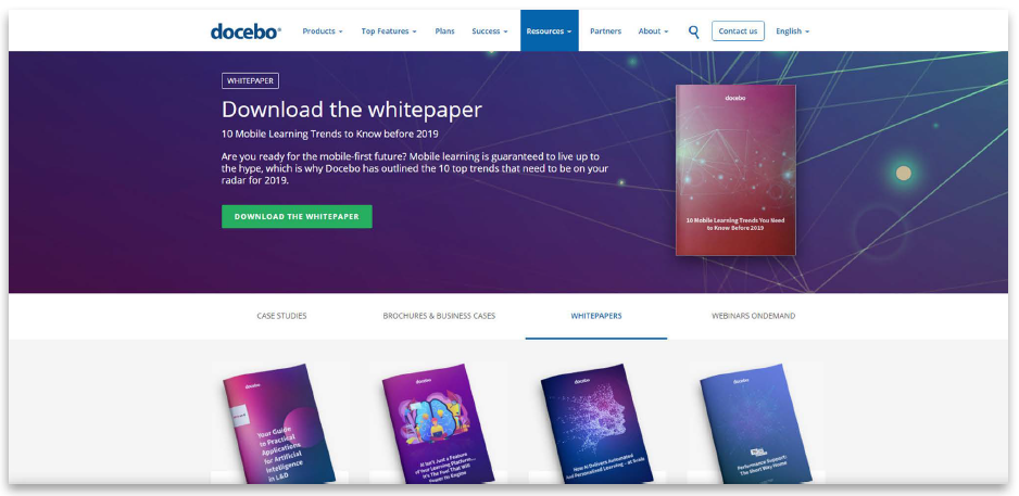 Docebo website