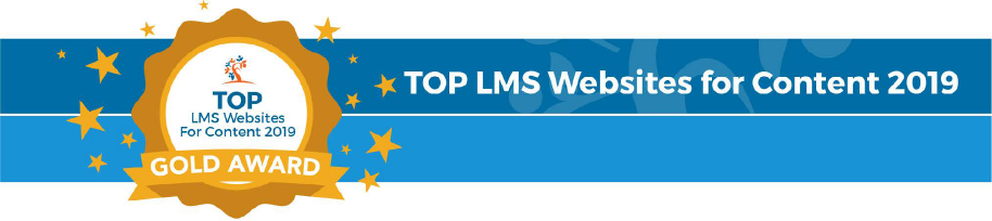 Top LMS Websites for Content 2019 Gold Award