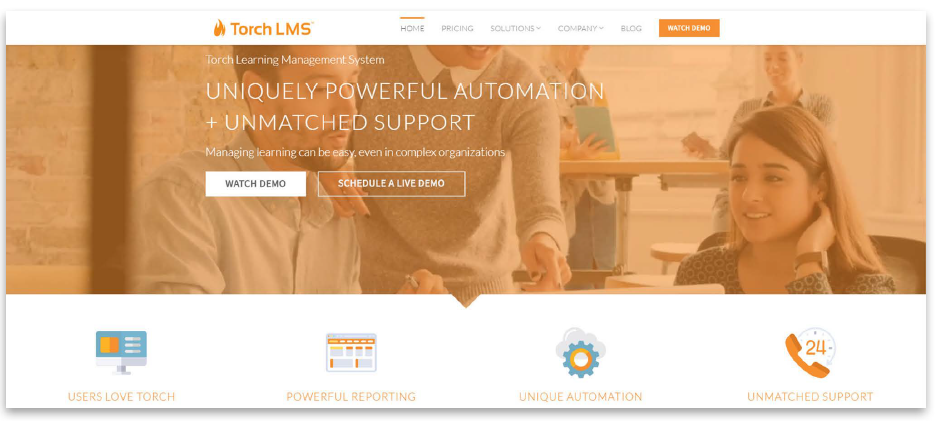 Torch LMS website