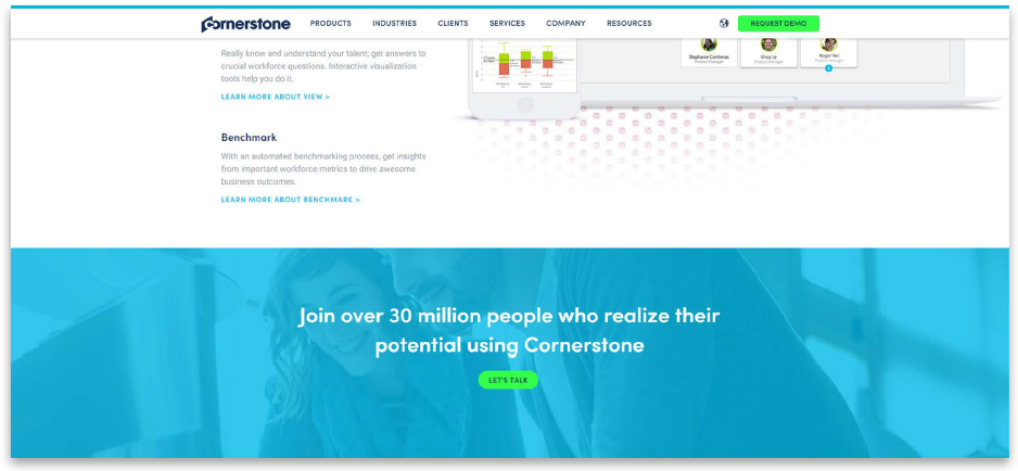 Cornerstone Ondemand website